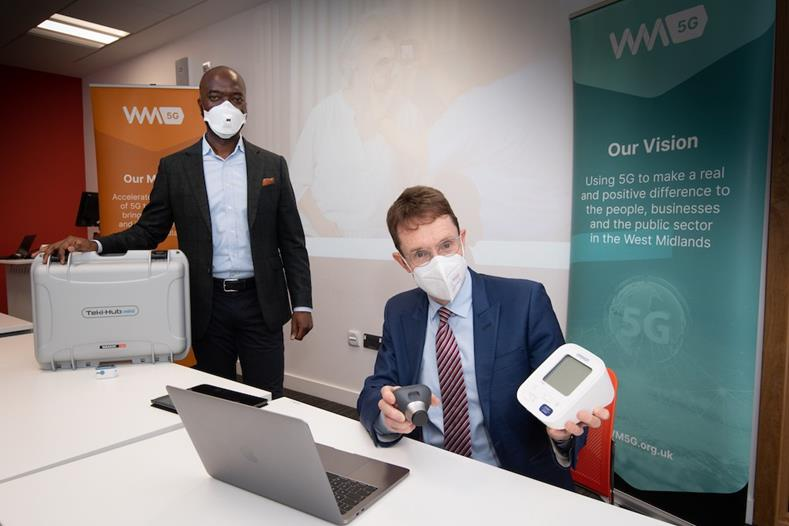 Mayor of the West Midlands Andy Street visited the Alison Gingell Building part of Coventry University for a demonstration of the technology and its benefit to residents