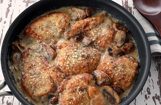 Mushroom Asiago chicken