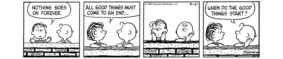 Peanuts cartoon with Charlie Brown