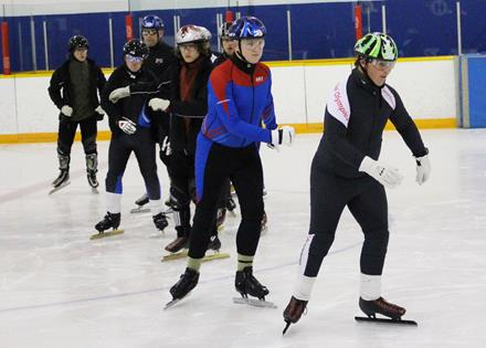 Athletes work to elevate their performance at September's Speed Skating Performance Camp