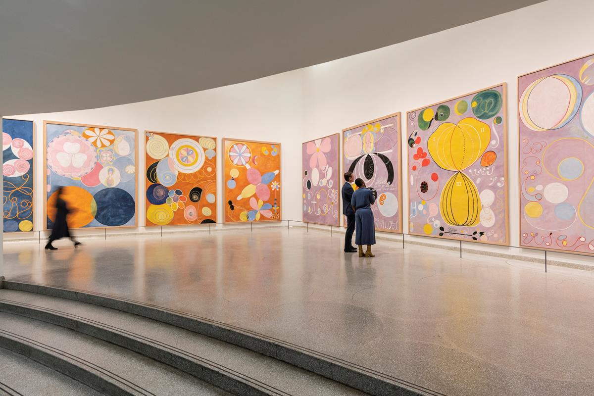 Installation view: 'Hilma af Klint: Paintings for the Future' October 12, 2018-April 23, 2019, Solomon R. Guggenheim Museum, New York.Photo: David Heald