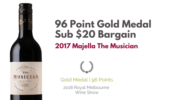96 Point Gold Medal Sub $20 Bargain Red - 2017 Majella The Musician