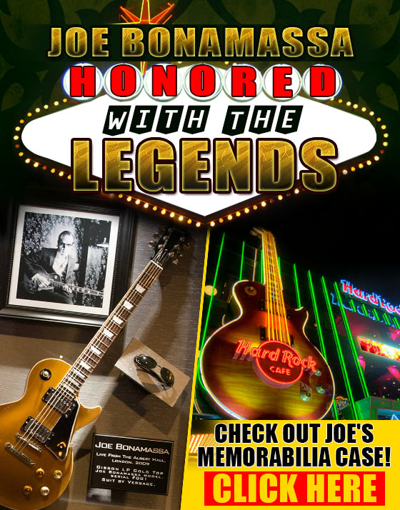 Joe Honored with the Legends at the Las Vegas Hard Rock Hotel and Casino. Check out Joe's Memorabilia case! Click Here.