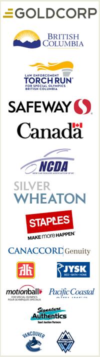 Special Olympics BC provincial sponsor logos