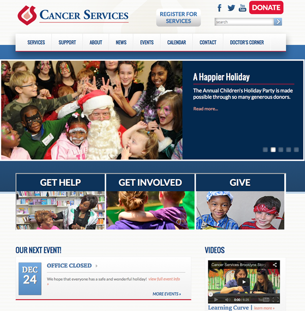 Cancer Services Homepage