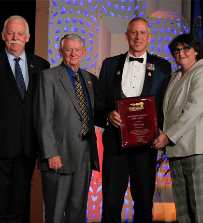 Rick Lucy inducted into  LETR Richard LaMunyon Hall of Fame