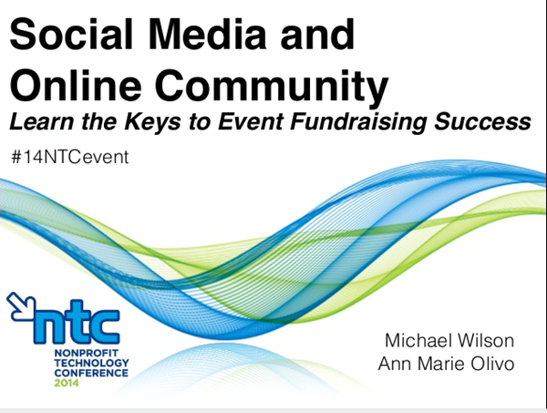 Social Media Online Community: Event Fundraising Success Slideshow Image