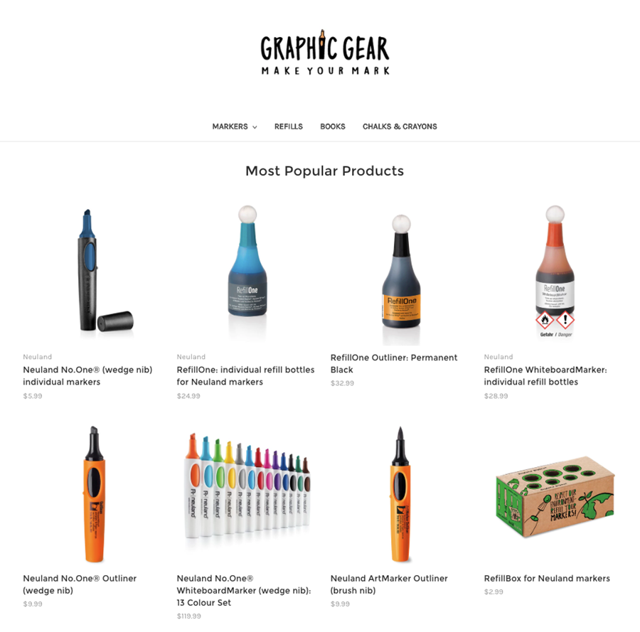 Graphic Gear: make your mark with markers, refills, and accessories for visual practitioners. Make your mark today!