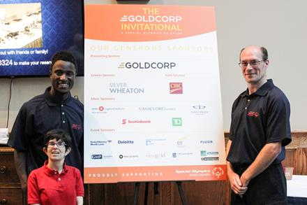 SOBC athletes at the Goldcorp Invitational
