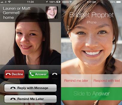 iOS 7/iOS 6 Comparison