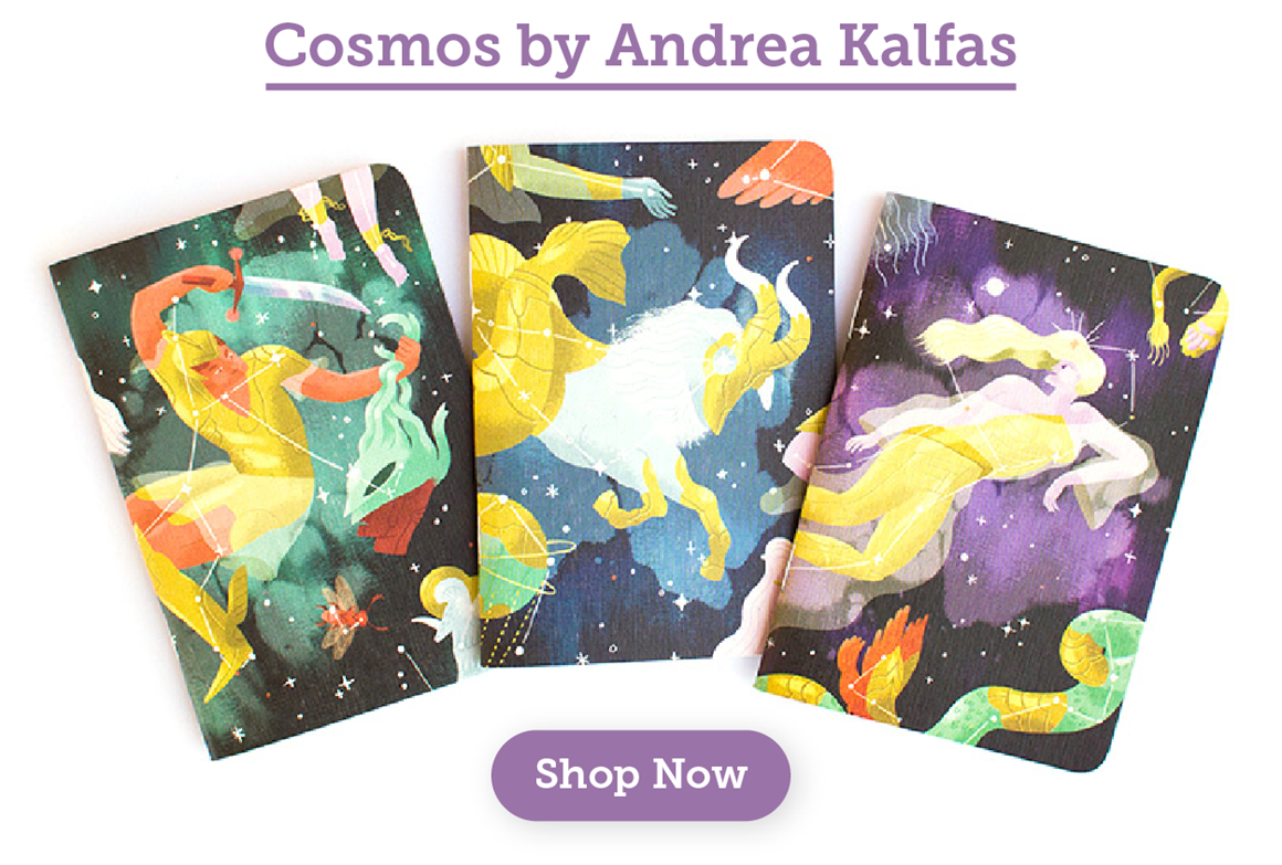 New Cosmos Notebooks by Andrea Kalfas
