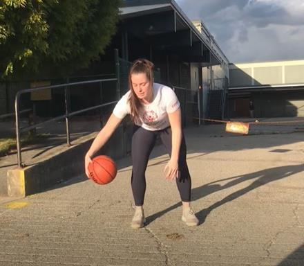 Basketball skill demonstration
