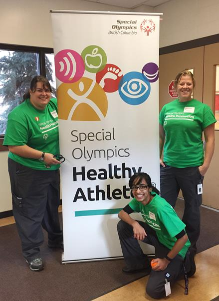 SOBC Healthy Athletes volunteers