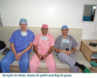 Serryth (in blue), Gosla (in pink) and Raj (in grey)