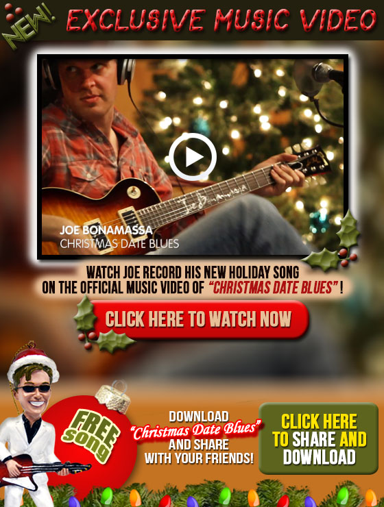 NEW Exclusive Music Video. Watch Joe record his new holiday song on the official music video of 'Chistmas Date Blues'! Click here to watch now. FREE Song! Download 'Christmas Date Blues' and share with your friends!  Share the holiday spirit with your friends! Click here to download and share with your friends now!