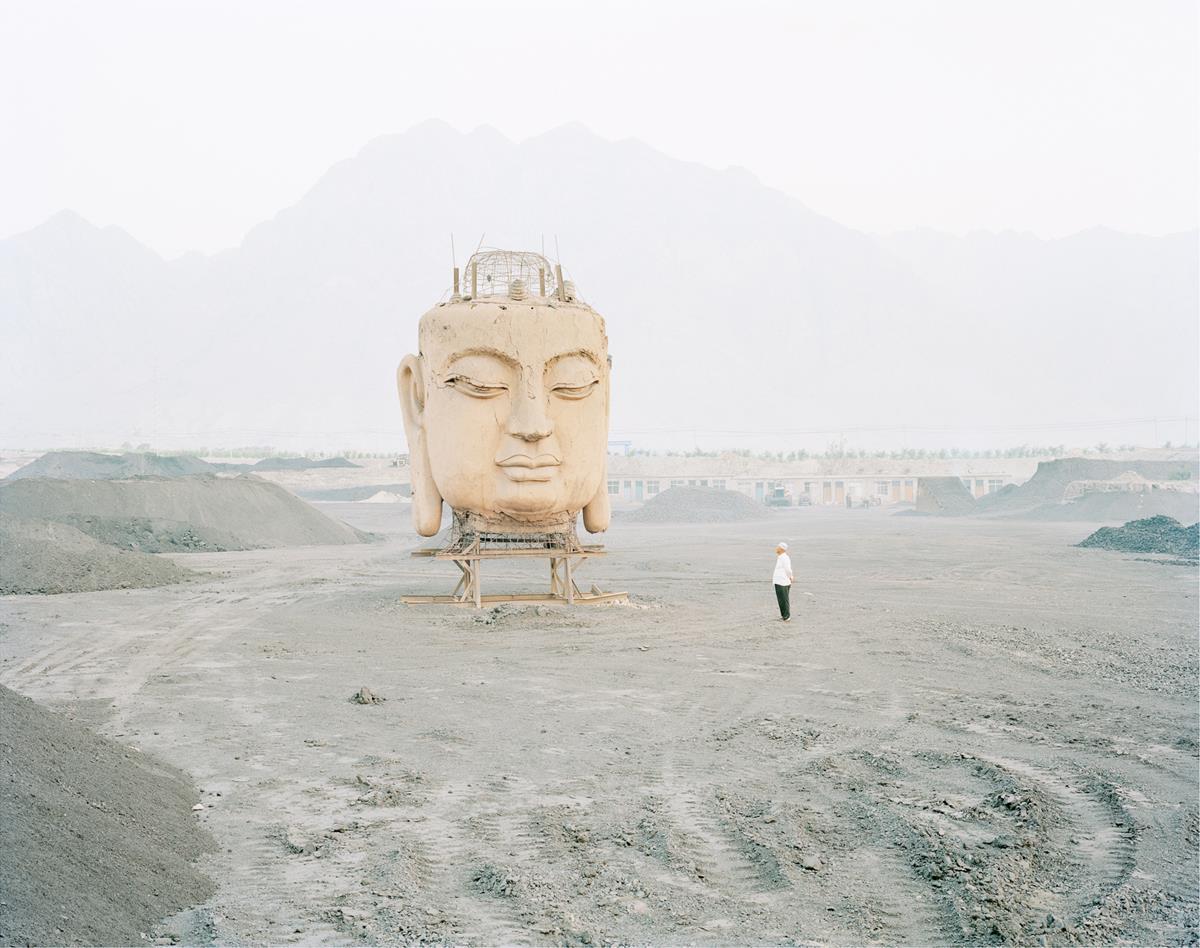 Zhang KECHUN 'A giant Buddha's face in a coal yard, Ningxia' (2011)