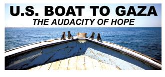 La US Boat to Gaza invita i giornalisti a ispezionare la nave