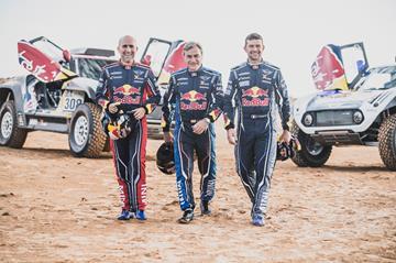 Stéphane Peterhansel, Carlos Sainz and Cyril Despres
