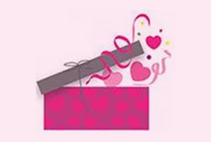 Box full of love hearts