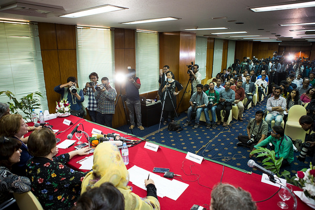 Press conference in Dhaka