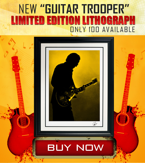 New 'Guitar Trooper' Limited Edition Lithograph Only 100 available Buy Now