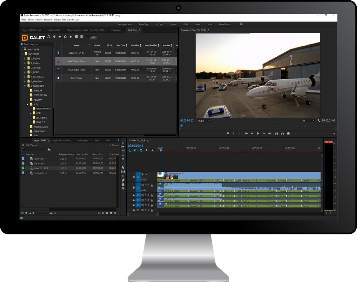 Dalet Xtend for Adobe® Premiere® Pro