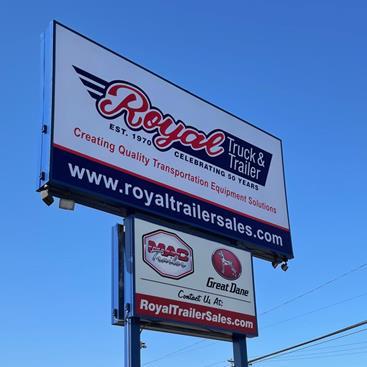Pylon sign of Royal Truck & Trailer