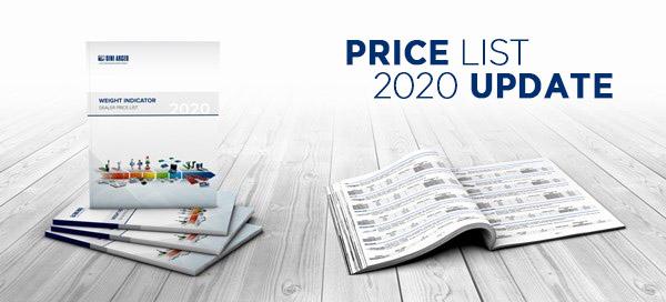 Verkaufspreisliste 2020