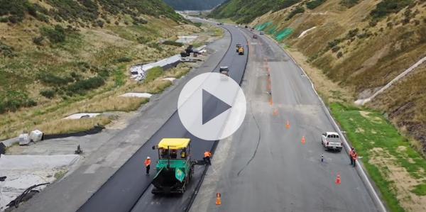 Motorway being paved