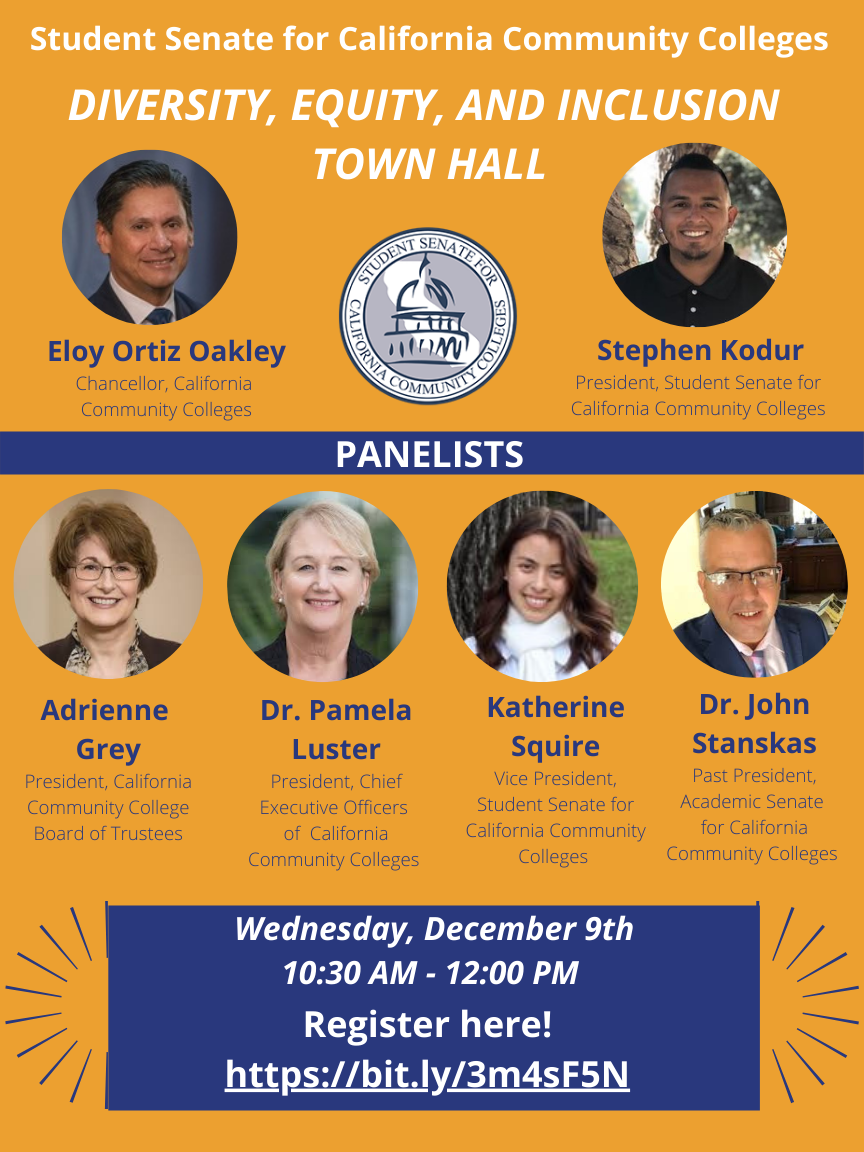 Town Hall flyer with panelist and other information.