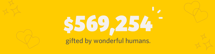 Final tally, $569,254 raised!