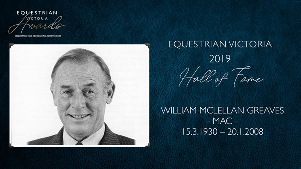 2019 EV Hall of Fame Inductee - William 'Mac' Greaves