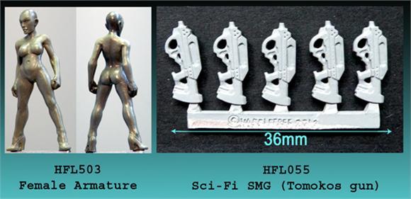 Female armature and new guns!