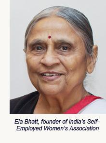Ela Bhatt, founder of India's Self-Employed Women's Association