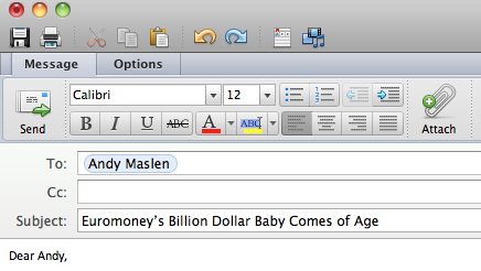I wrote this subject line for Euromoney. It really, really worked.