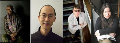 Yusef Komunyakaa, Tan Lin, Paul Muldoon and Brenda Shaughnessy, Poets, Poetry NYC