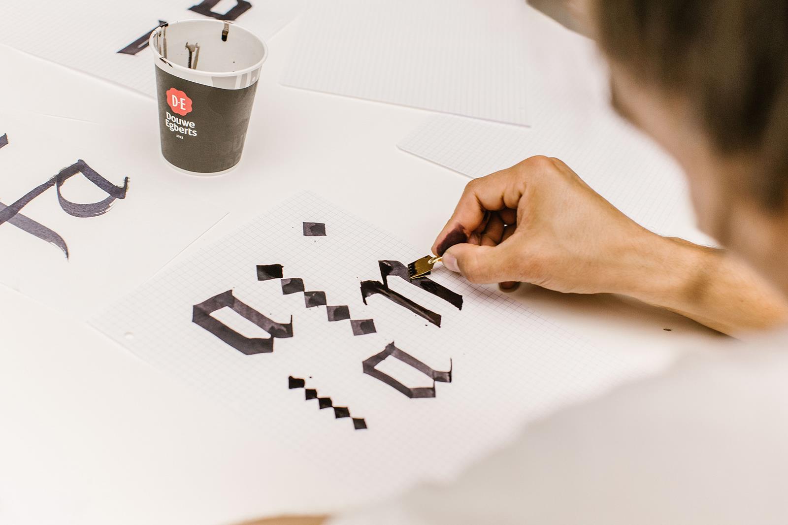 Calligraphy workshop TYPO 2017 © Sebastian Weiß / Monotype