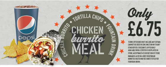 Chicken Burrito Meal