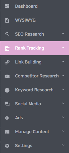 Rank Tracker in Raven tools