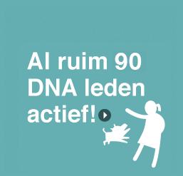 Al ruim 90 DNA leden actief!