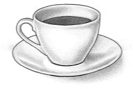 Cup of coffee hedcut.