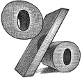 Percentage logo.