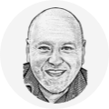 Author byline hedcut.